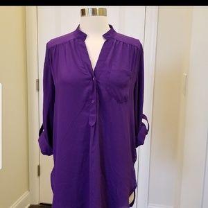 41 Hawthorn Purple Blouse Sz M